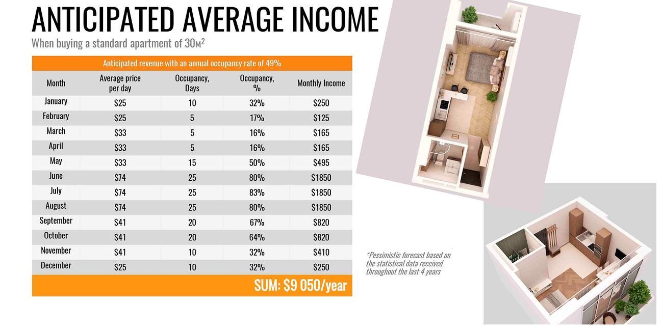 צפי הכנסה ותשואה שנתית